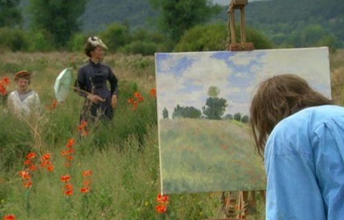 Monet painting poppies