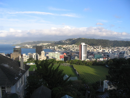 Wellington Uni oval from cable car