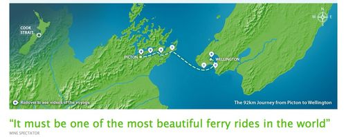 Map of Interisland ferry