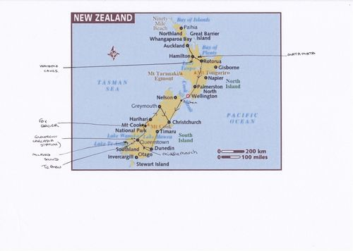 Map of NZ