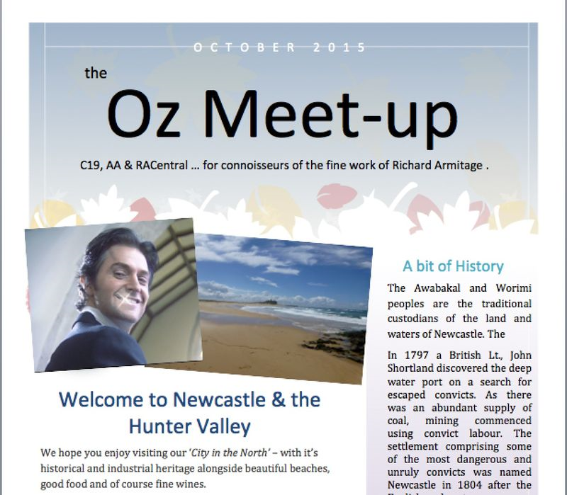 Oz meet up front page